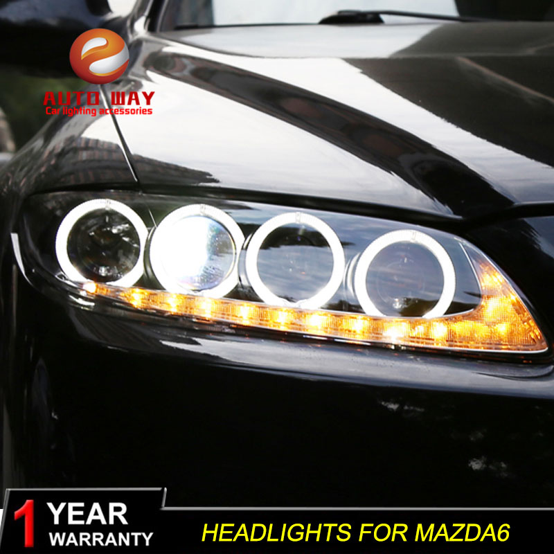 Car Styling Head Lamp case for Mazda 6 M6 Headlights Mazda6 LED Headlight DRL Lens Double Beam Bi Xenon HID car Accessories