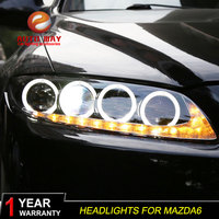 Car Styling Head Lamp case for Mazda 6 M6 Headlights Mazda6 LED Headlight DRL Lens Double Beam Bi Xenon HID car Accessories