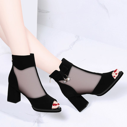 New single shoes Korean sexy mesh thick with high heels waterproof platform comfortable womens shoesNew single shoes Korean sexy mesh thick with high heels waterproof platform comfortable womens shoes