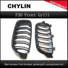 1 пара F30 автомобильный Стайлинг гриль M3 Стиль F31 черная сменная решетка для BMW F30 F31 2012+ 320i 325i 328i 335i черный глянец