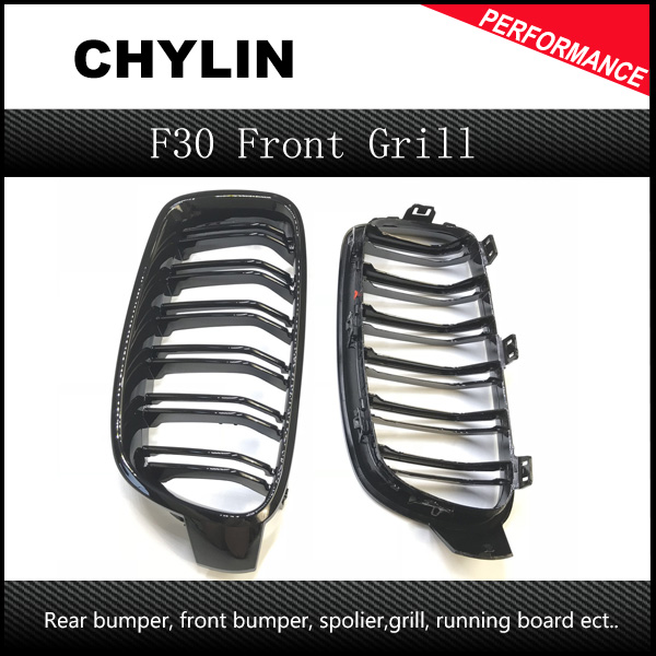 1 Pair F30 Car Styling Grill M3 Style <font><b>F31</b></font> Kidney Black Replacement Grille For BMW F30 <font><b>F31</b></font> 2012+ 320i 325i 328i 335i Gloss Black image