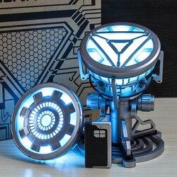 Mściciel Iron Man Mk43 MK6 reaktor łukowy z oświetleniem LED Tony Stark reaktor łukowy