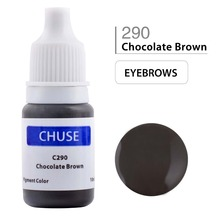 CHUSE Permanent Makeup Ink Eyeliner Tattoo Ink Set Eyebrow Microblading Pigment Professional Encre A Levre 10ML Chocolate Brown