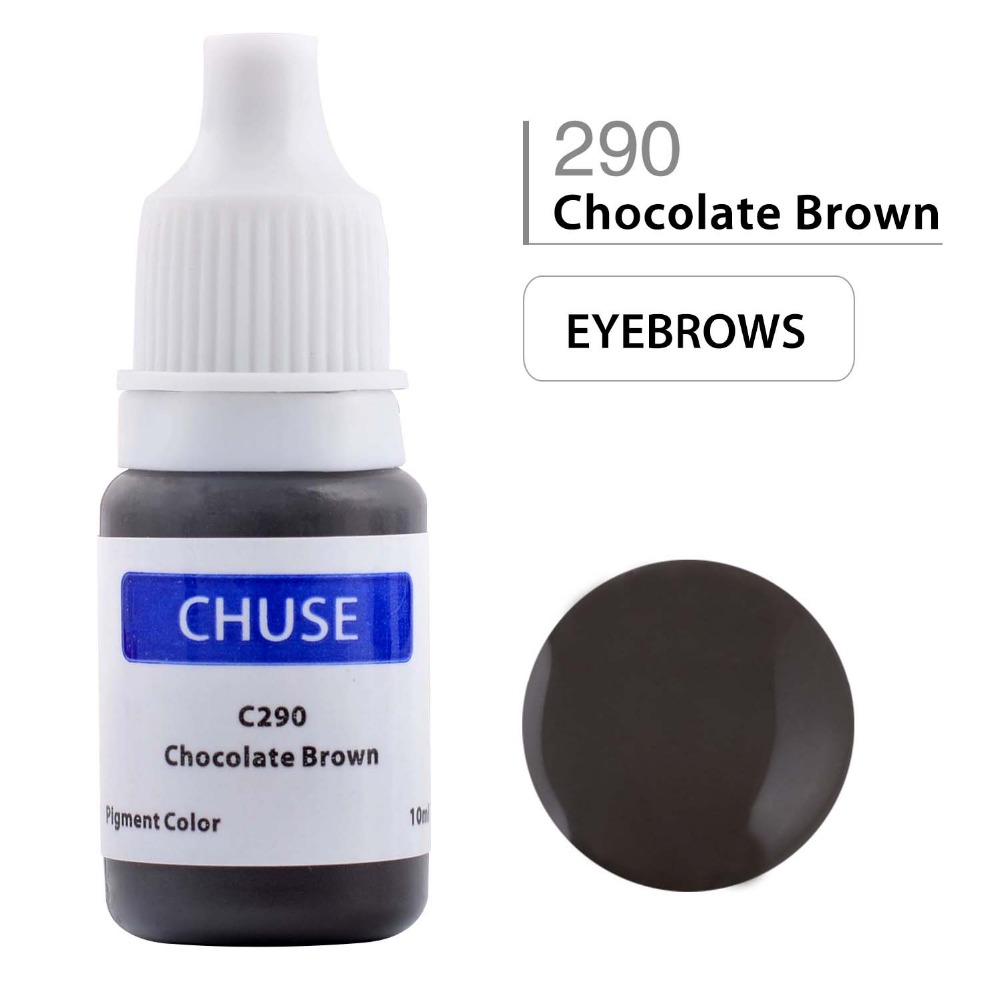 CHUSE Permanent Makeup Ink Eyeliner Tattoo Ink Set Øyenbryn Microblading Pigment Professional Encre A Levre 10ML Chocolate Brown