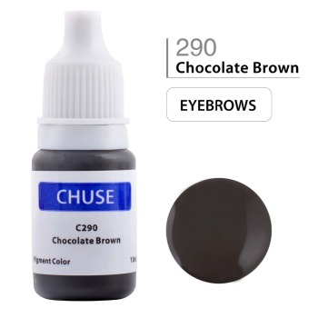 CHUSE Permanent Makeup Ink Eyeliner Tattoo Ink Set Eyebrow Microblading Pigment Professional Encre A Levre 10ML Chocolate Brown 5 pcs tattoo ink for lips permanent makeup microblading pigment cosmetic encre tatouage tattoo ink set supplies