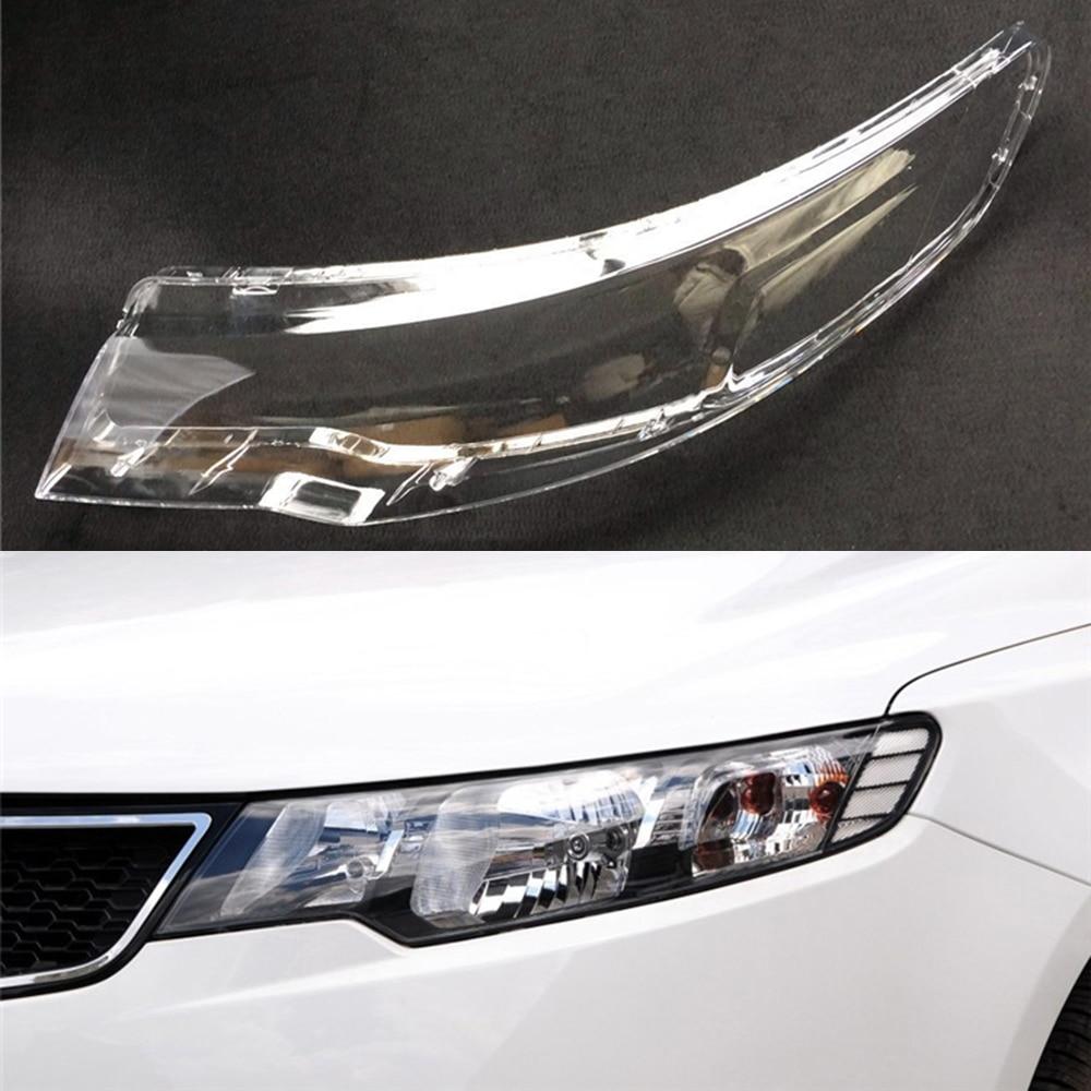 For Kia Cerato/Forte 2009 2010 2011 2012 2013 Car Headlight Headlamp Clear Lens Auto Shell Cover Driver & Passenger Side