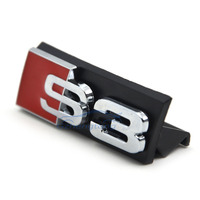 Auto Decal Modified Accessories Universal 3D S3 Logo Car Styling Front Hood Grille Emblem Badge Stickers