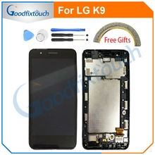 LCD Screen For LG K9 X2 X210 LCD Display Touch Screen Digitizer Assembly With Frame LCD Display For LG K9 Replacement Parts black color replacement parts for lg g3 stylus d690 lcd display screen with touch digitizer with frame 1 piece free shipping