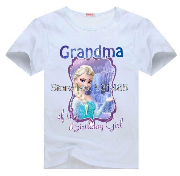 T Shirt Grandma Of The Birthday Girl Party For Toddler Kids Children Boy Cartoon