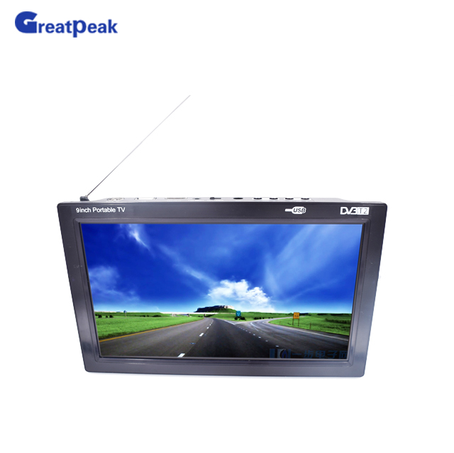Free Shipping 9'' Portable Digital Terrestrial Receiver MINI TV MPEG4 H.264 DVB-T2 TV with USB 2.0 Interface hdvb 8703 hdtv mpeg4 h 264 dvb t digital terrestrial receiver w pvr hdmi scart eu plug