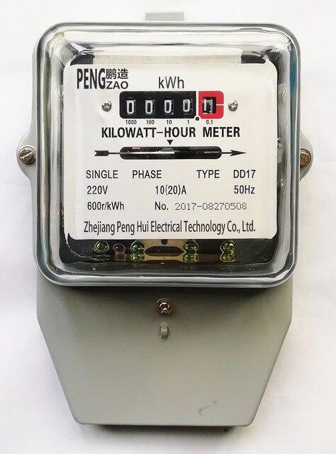 AC Puissance Compteur Électrique Monophasé deux fils Électromécanique kilowattheure compteur D'énergie 10 (20) UN