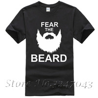 Fear The Beard Shaving Gift Mens T Shirt Summer T Shirt Brand Fitness Body Building