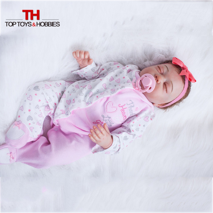 20 inches Handmade Doll Reborn Lifelike American Girl Newborn Bebe Dolls Silicone Vinyl Baby Toddler Toy Kids New Year Gift 45cm american girl dolls handmade lifelike little toddler girls doll kids play house toy princess dolls collection