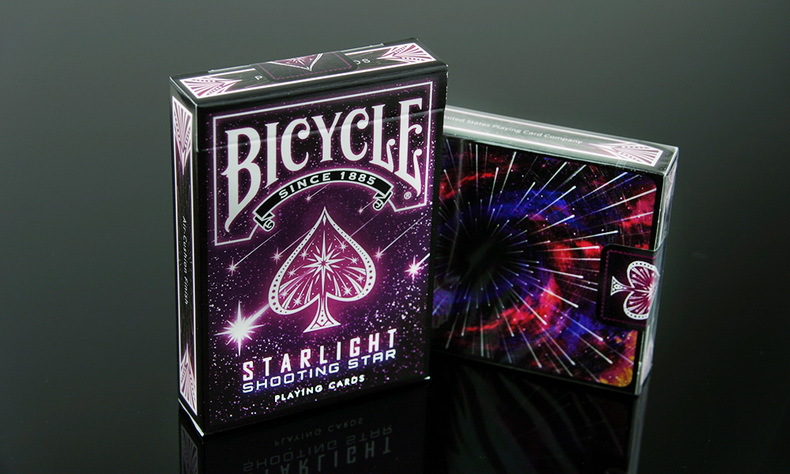 1 Deck Bicycle Starlight Shooting Star Playing Cards Magic Cards Poker Close Up Stage Magic Tricks for Professional Magician