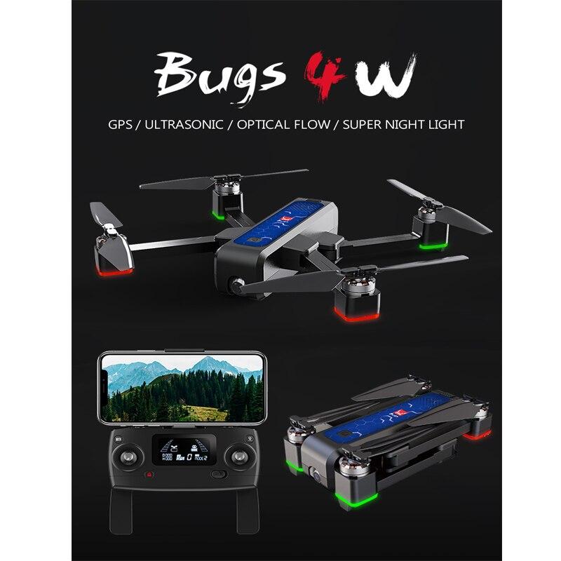2019 nouveau MJX 4 Bugs W B4W GPS avec WIFI FPV sans brosse pliable RC Drone 2 K HD caméra hélicoptère jouet