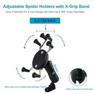 Image 4 - Support de téléphone portable paresseux réglable moto rétroviseur support de support de support de guidon pour support de moto de téléphone mobile intelligent
