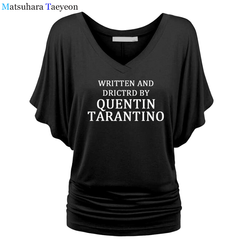 written-and-directed-by-quentin-font-b-tarantino-b-font-sexy-women-t-shitr-slim-round-neck-fashion-gift-harajuku-funny-v-neck-shirt-hotmess