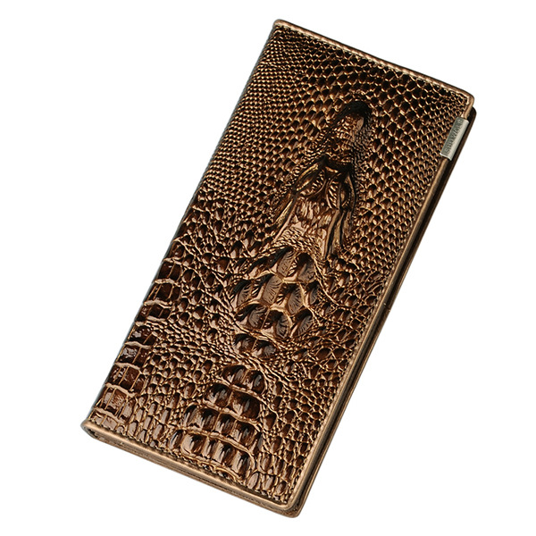 Unistyle Women Wallet Hasp Coin Purses Holders Brand Genuine Leather 3D Embossing Alligator Ladies Crocodile Long Clutch Wallets 2017 new ladies purses in europe and america long wallet female cards holders cartoon cat pu wallet coin purses girl