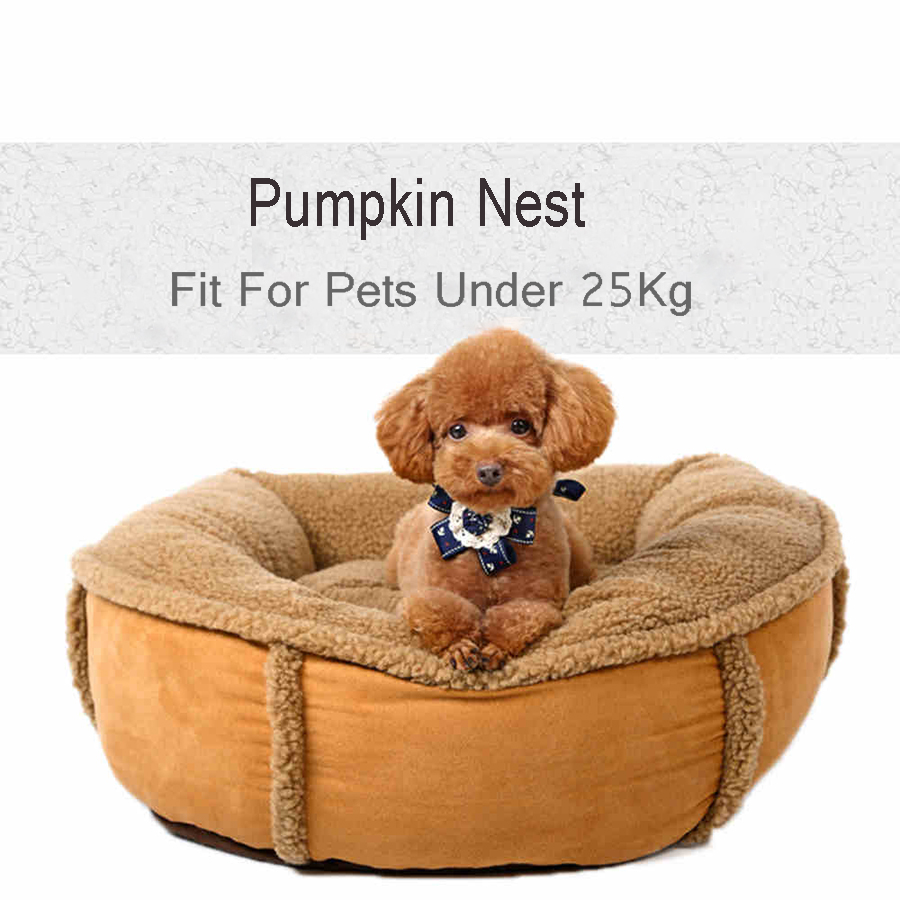 Pumpkin Nest Cartoon Puppy House Cleaning Dogs Pillow Bed Fill Kedi Yataklari Sofa Cover Pets Tool Pads Accessories 60Z1161