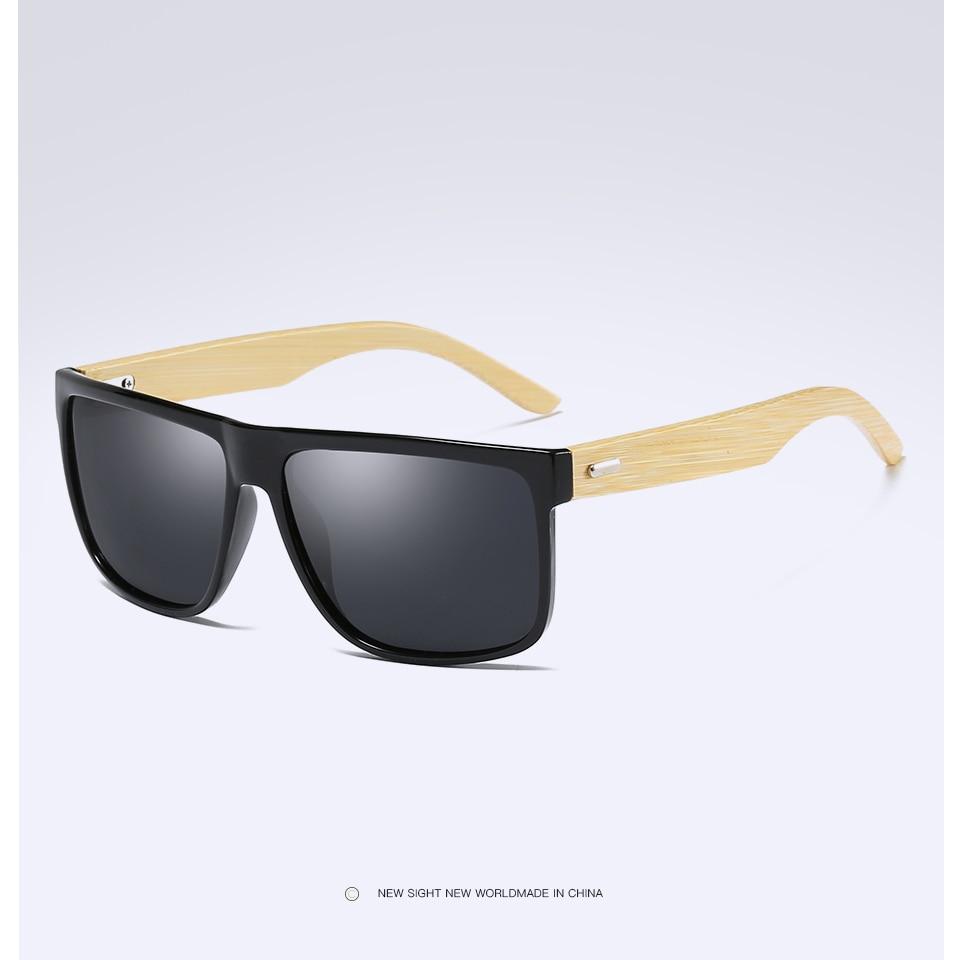 7a835f2b55261 GYsnail Espelho Retro Óculos De Sol Dos Homens de Bambu De Madeira Óculos  De Sol Das Mulheres Óculos de Marca Óculos de Sol de madeira Polarizada  Tons ...