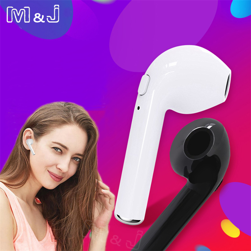 M&J TWS i7s Mini Bluetooth Headphone Sport Stereo Earphone Buds Wireless Earbud Handsfree Headset For iPhone X 8 7 Samsung Apple ...
