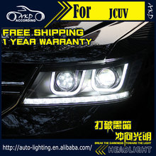 AKD Car Styling Head Lamp for Dodge Journey JCUV Headlights Freemont LED Headlight H7 D2H Hid Option Angel Eye Bi Xenon Beam