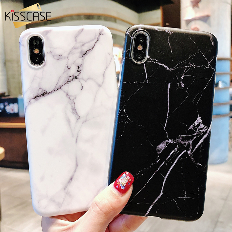 KISSCASE Luxury Marble Case For iPhone XS Max X 10 7 8 Classic Soft TPU Silicone Case For iPhone 6 6s Plus 5 SE XR Cover Fundas iPhone