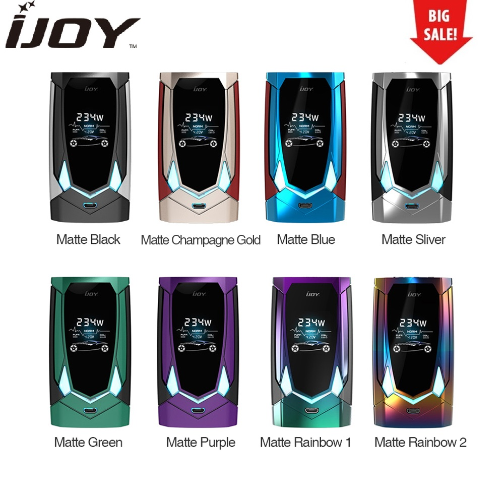 Hot Original 234W IJOY Avenger 270 Voice Control TC Box MOD Max 234W Output No 18650/20700 Battery Box Mod Vape Mod Vs Cylon Mod new original 234w ijoy captain pd270 tc box mod w 6000mah battery powered by dual 20700 18650 battery vape box mod vs drag mod