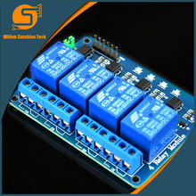 Free Shipping 1PCS/LOT 5V 4-Channel Relay Module Shield for Arduino ARM PIC AVR DSP Electronic 5V 4 Channels Relay module