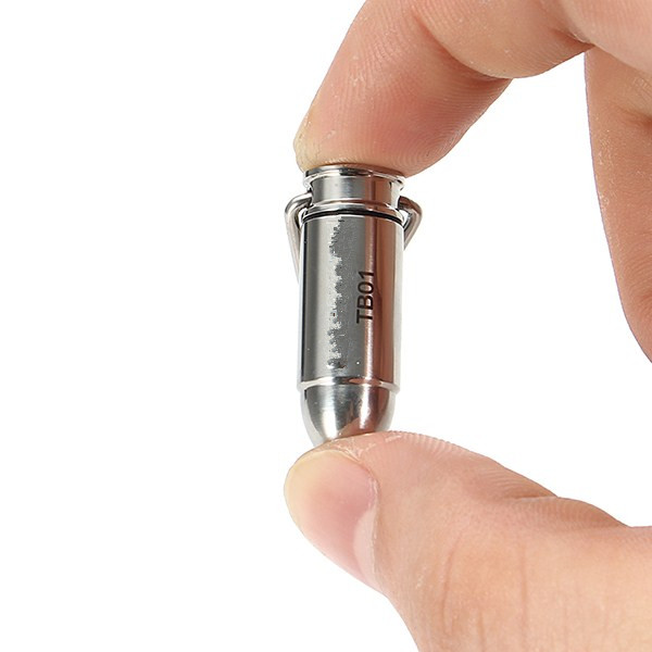 Jiguoor TB-01 Bullet Copper/Stainless Steel 45LM Mini LED Keychain Flashlight Led Light Lamp Mini Torch+3 X LR41 Battery