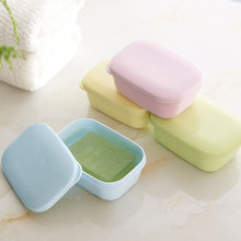 Creative Portable Travel Handmade Soap Box Square Drainable Waterproof Leakproof Mini Bathroom