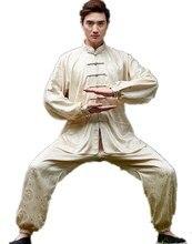 Shanghai Story Men's chinese kungfu set chinese Tai chi suit long sleeve shirt + pants Linen kungfu uniform 6 Style for Unisex