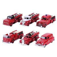 3pcs 1:43 Simulation Alloy Fire Engine Truck Model Vehicles Kids Toys Set