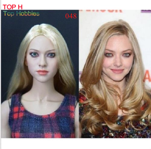 KUMIK 048 Amanda Seyfried 1/6 Head Sculpt Model for Custom 12 Inch Hot Toys Phicen Female Body Action Figures 2015 hot dam toys armed police military equipment set include head sculpt and body christmas gift collectibles model toys