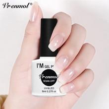 Vrenmol 8 мл опал желе белый лак для ногтей замачиваемый маникюрный лак УФ-гель для дизайна ногтей полупрозрачный лак для ногтей