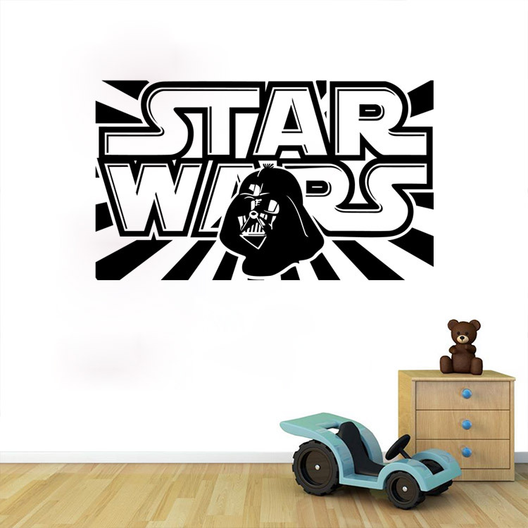 Star Wars Wall Decal With Darth Vader Vinyl Sticker Boys Bedroom Wall Decor Lego  Star Wars Poster Wall Stickers Home Decor  In Wall Stickers From Home ... Part 20