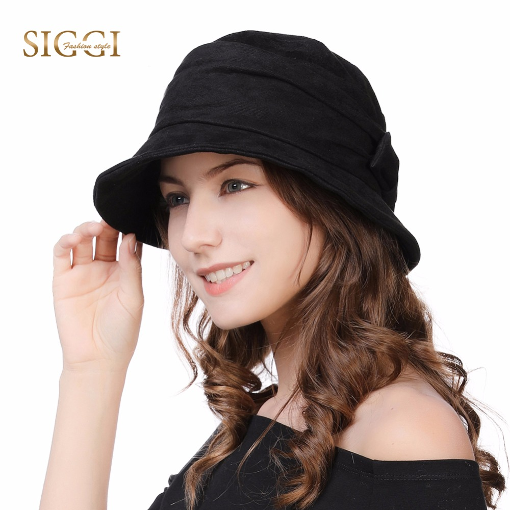 b07f366d0b4 Detail Feedback Questions about FANCET Women Cloche Bucket Hats 1920s  Vintage Church Derby Packable Foldable Winter Wired Brim Adjustable Bowknot  Hats 99088 ...