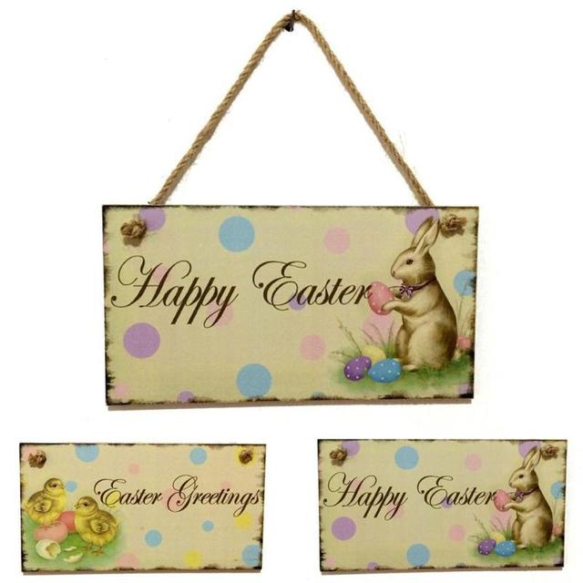 Wooden Listed Greeting Sign Hanging Door Decor Hanging Board Wall ...