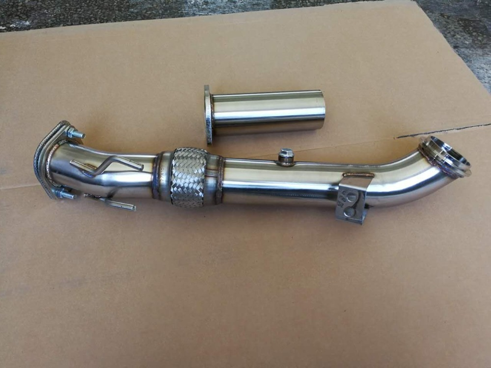 CATLESS FLEX TURBO DOWNPIPE STAINLESS FOR 13-17 FORD FOCUS ST 2.0L ECOBOOST купить недорого в Москве