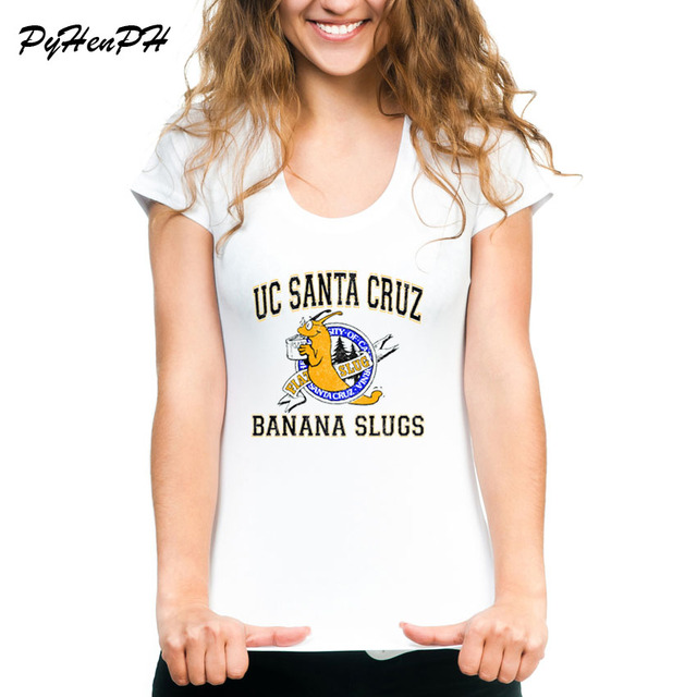 T Slugs Fiction Printed Cruz Santa Pulp Shirt Uc Banana Women Tee 9IED2WYH