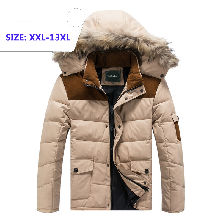Winter warm 25 graden dragen thicken jas heren jas merk kwaliteit jas grootste plus size XL 8XL 9XL 10XL 11XL 12XL 13XL-in Donzen jassen van Mannenkleding op  Groep 1