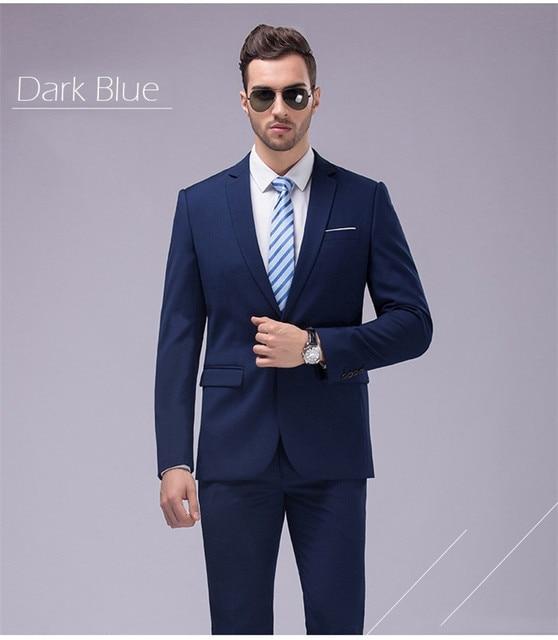 Custom Made Navy Tuxedo Jacket Men Suit Groom Wedding Suits For Tux Lastest Coat Pant