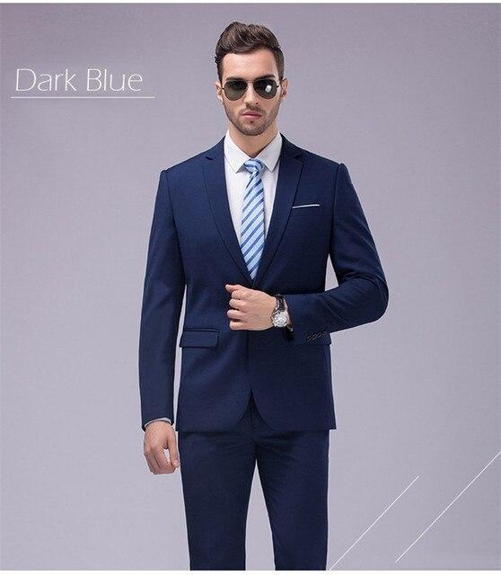 751659329df46 Por encargo chaqueta de esmoquin azul marino hombres traje novio trajes de  boda para hombre tux