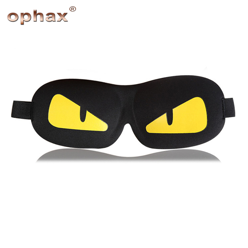 OPHAX 3D cartoon sleep eye mask travel soft portable eyeshade cover shade eye patch sleeping shade for men women gifts blindfold