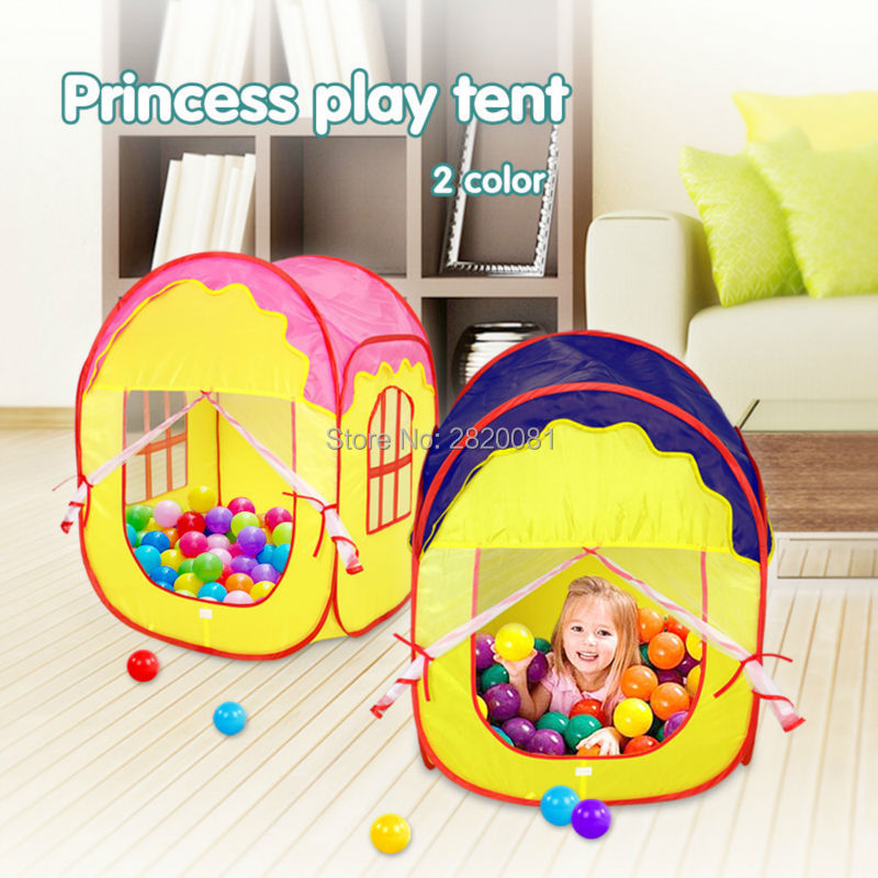 Princess castle play tent childrens play funny house ocean ball pool,indoor/outdoor Portable folding beach tent toys 2 colors