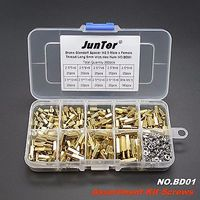 Hot Selling 360pcs M2 5 Brass Standoff Spacer M2 5 Male X Female With Hex Nuts