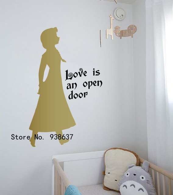 Frozen 3d Wall Stickers Home Decor Living Room DIY Princess Queen Animals  Fairy Wall Decals Bedroom