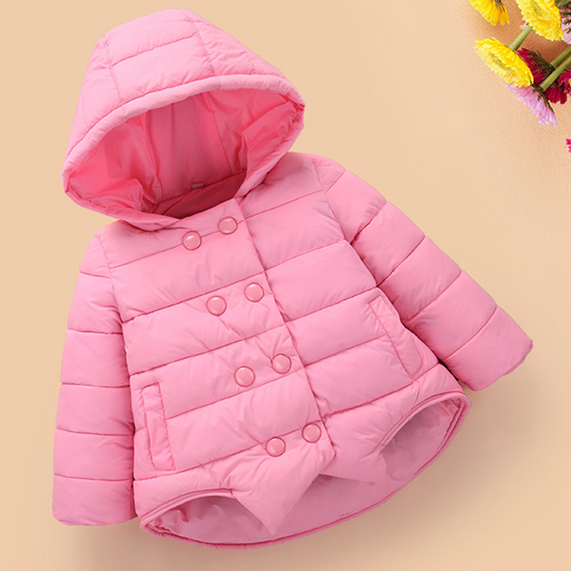 1ba3a14d97eb Children Warm Outerwear Kids Girl Hooded Coats Winter Jacket for ...