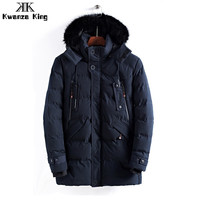 Black Men Coat Autumn Winter Parka Thick Warm Hooded High Quality Outwear Fashion 2018 Solid Clothes Casual Men Clothing 8823
