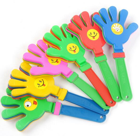 Baby Rattle Toys Ringing Clap Palm Rattles Hand Clapper Party KTV Bar Toy Handle Shaker Noise Maker